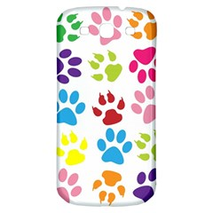 Paw Print Paw Prints Background Samsung Galaxy S3 S Iii Classic Hardshell Back Case