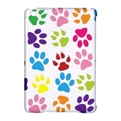 Paw Print Paw Prints Background Apple Ipad Mini Hardshell Case (compatible With Smart Cover)