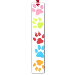 Paw Print Paw Prints Background Large Book Marks