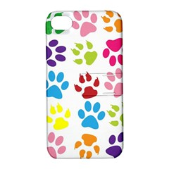 Paw Print Paw Prints Background Apple Iphone 4/4s Hardshell Case With Stand