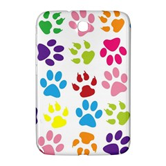 Paw Print Paw Prints Background Samsung Galaxy Note 8 0 N5100 Hardshell Case