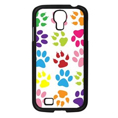 Paw Print Paw Prints Background Samsung Galaxy S4 I9500/ I9505 Case (black)