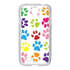 Paw Print Paw Prints Background Samsung Galaxy S4 I9500/ I9505 Case (white)