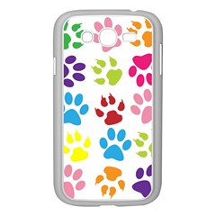 Paw Print Paw Prints Background Samsung Galaxy Grand Duos I9082 Case (white)