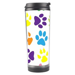 Paw Print Paw Prints Background Travel Tumbler