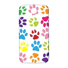 Paw Print Paw Prints Background Samsung Galaxy S4 I9500/i9505  Hardshell Back Case