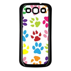 Paw Print Paw Prints Background Samsung Galaxy S3 Back Case (black)