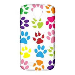 Paw Print Paw Prints Background Samsung Galaxy S4 Classic Hardshell Case (pc+silicone)