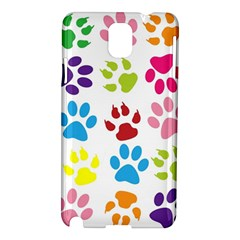 Paw Print Paw Prints Background Samsung Galaxy Note 3 N9005 Hardshell Case