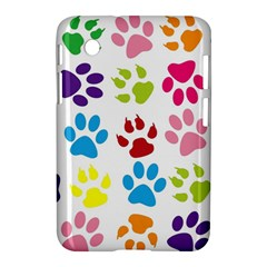 Paw Print Paw Prints Background Samsung Galaxy Tab 2 (7 ) P3100 Hardshell Case