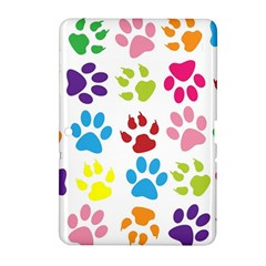 Paw Print Paw Prints Background Samsung Galaxy Tab 2 (10 1 ) P5100 Hardshell Case