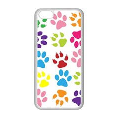 Paw Print Paw Prints Background Apple Iphone 5c Seamless Case (white)