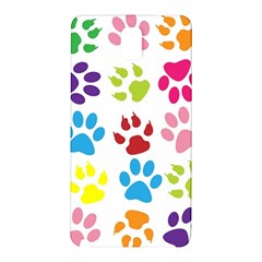 Paw Print Paw Prints Background Samsung Galaxy Note 3 N9005 Hardshell Back Case