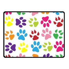 Paw Print Paw Prints Background Double Sided Fleece Blanket (small)