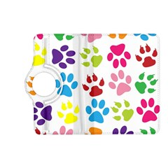 Paw Print Paw Prints Background Kindle Fire Hd (2013) Flip 360 Case