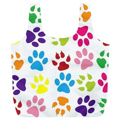 Paw Print Paw Prints Background Full Print Recycle Bags (l)