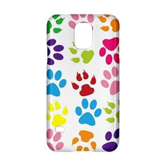 Paw Print Paw Prints Background Samsung Galaxy S5 Hardshell Case