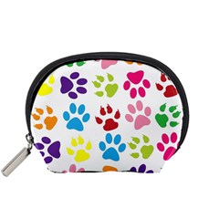 Paw Print Paw Prints Background Accessory Pouches (small)