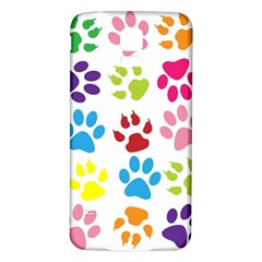 Paw Print Paw Prints Background Samsung Galaxy S5 Back Case (white)