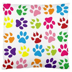 Paw Print Paw Prints Background Standard Flano Cushion Case (one Side)