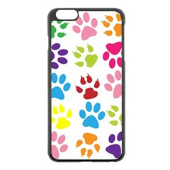 Paw Print Paw Prints Background Apple Iphone 6 Plus/6s Plus Black Enamel Case