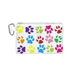 Paw Print Paw Prints Background Canvas Cosmetic Bag (s)