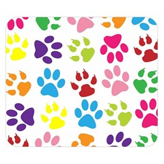 Paw Print Paw Prints Background Double Sided Flano Blanket (small)