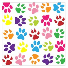 Paw Print Paw Prints Background Large Satin Scarf (square)