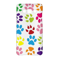 Paw Print Paw Prints Background Samsung Galaxy A5 Hardshell Case
