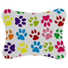 Paw Print Paw Prints Background Jigsaw Puzzle Photo Stand (bow)