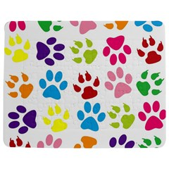 Paw Print Paw Prints Background Jigsaw Puzzle Photo Stand (rectangular)