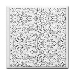 Pattern Silly Coloring Page Cool Tile Coasters