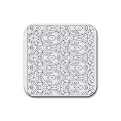 Pattern Silly Coloring Page Cool Rubber Coaster (square)