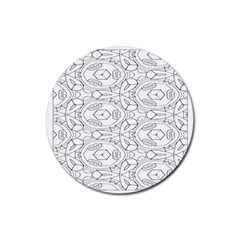 Pattern Silly Coloring Page Cool Rubber Coaster (round)