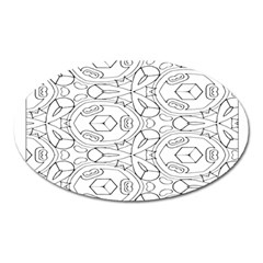 Pattern Silly Coloring Page Cool Oval Magnet