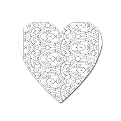 Pattern Silly Coloring Page Cool Heart Magnet