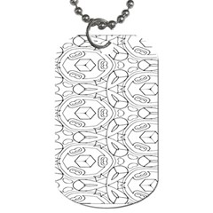Pattern Silly Coloring Page Cool Dog Tag (one Side)