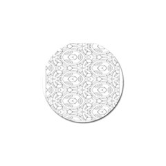 Pattern Silly Coloring Page Cool Golf Ball Marker (4 Pack)