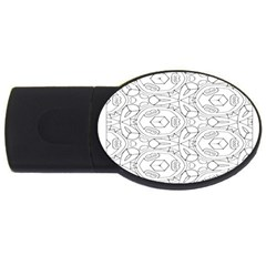 Pattern Silly Coloring Page Cool Usb Flash Drive Oval (4 Gb)