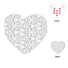 Pattern Silly Coloring Page Cool Playing Cards (heart)