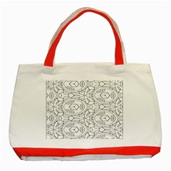 Pattern Silly Coloring Page Cool Classic Tote Bag (red)