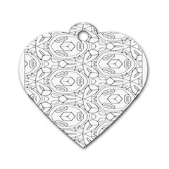 Pattern Silly Coloring Page Cool Dog Tag Heart (two Sides)