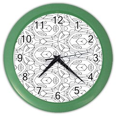 Pattern Silly Coloring Page Cool Color Wall Clocks