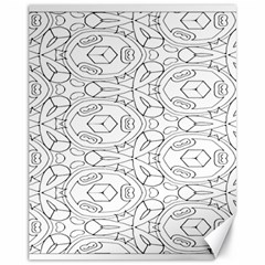 Pattern Silly Coloring Page Cool Canvas 11  X 14