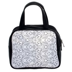 Pattern Silly Coloring Page Cool Classic Handbags (2 Sides)