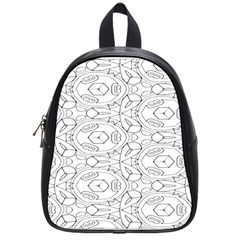 Pattern Silly Coloring Page Cool School Bags (small)