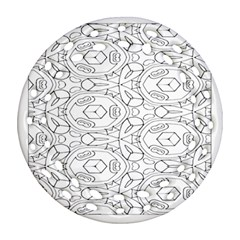 Pattern Silly Coloring Page Cool Ornament (round Filigree)