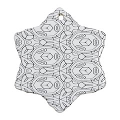 Pattern Silly Coloring Page Cool Snowflake Ornament (Two Sides)