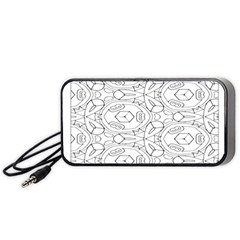Pattern Silly Coloring Page Cool Portable Speaker (black)