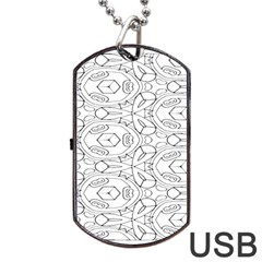 Pattern Silly Coloring Page Cool Dog Tag Usb Flash (two Sides)